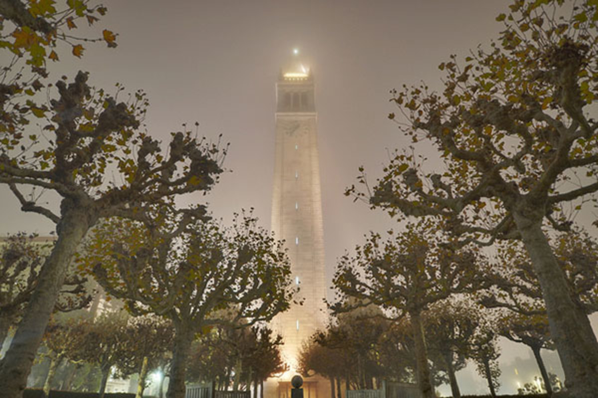 The campanile at the University of California-Berkeley shrouded in fog. (PHOTO: D.H. Parks/FLICKR)