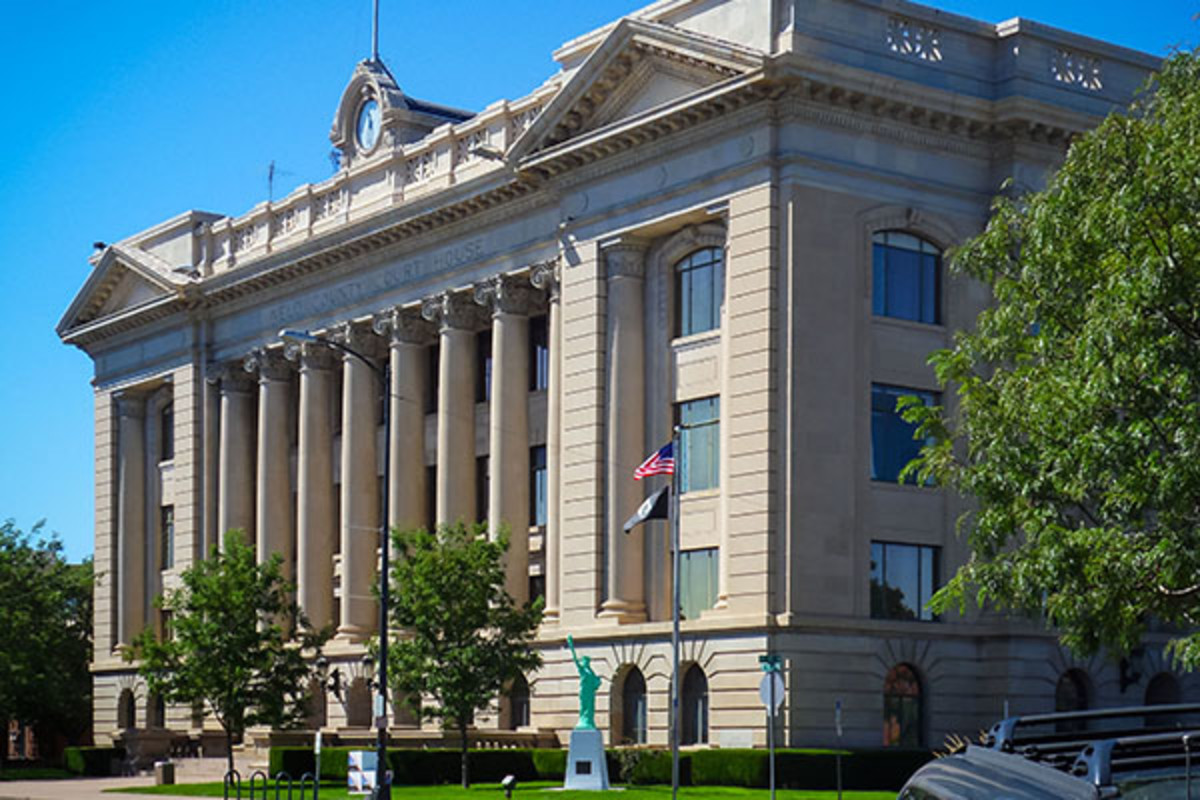 The courthouse and county seat of Greeley, which would be the largest city in North Colorado. (PHOTO: PETER ROMERO/WIKIMEDIA COMMONS)