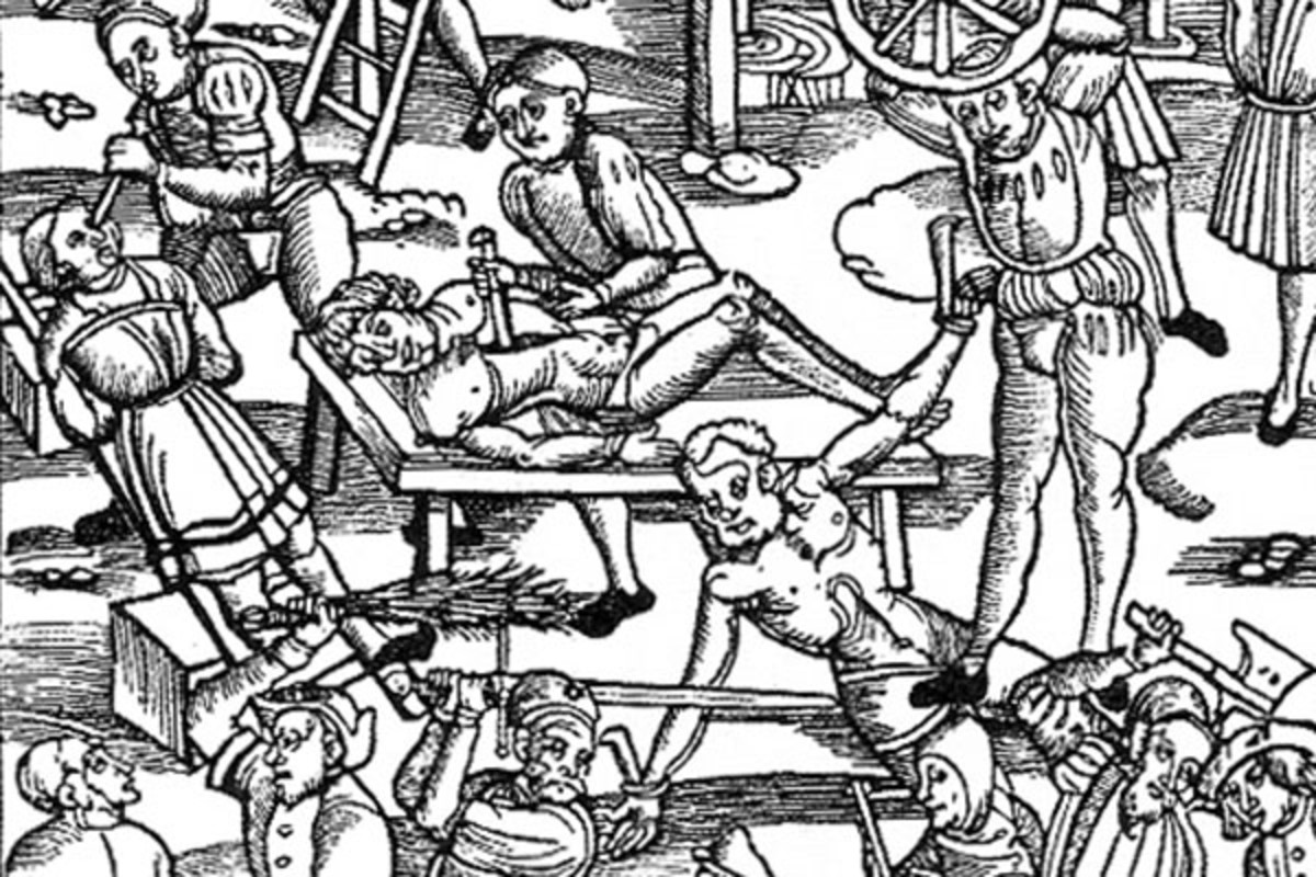 Torture in the 16th century, dramatized. (PHOTO: PUBLIC DOMAIN)