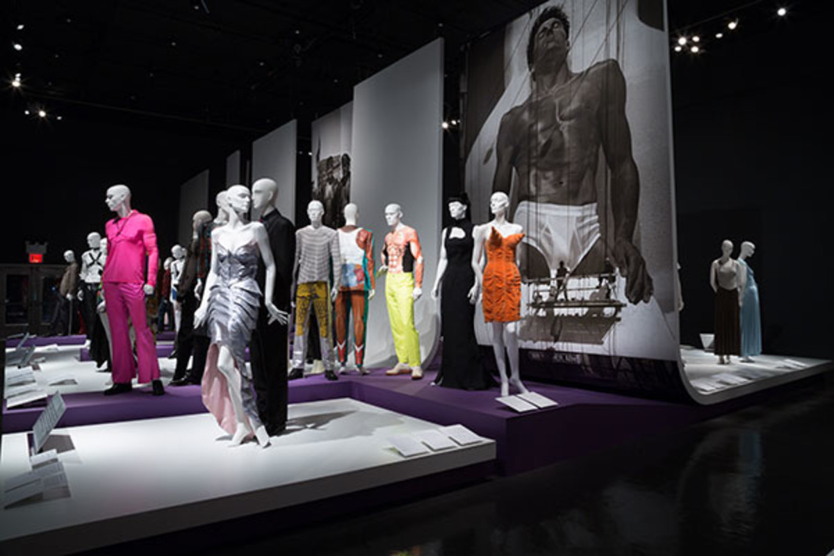 Installation view of A Queer History of Fashion: From the Closet to the Catwalk. (PHOTO: THE MUSEUM AT FIT, NEW YORK.)