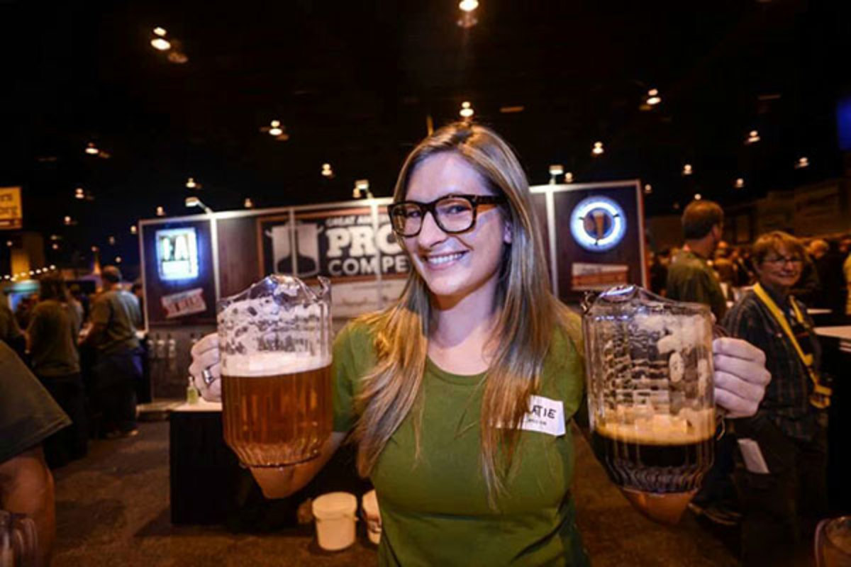 Homebrewer Katie Thomas at the 2013 Great American Beer Festival in Denver, Colorado. (PHOTO: LUKE TRAUTWEIN, BREWERS ASSOCIATION)