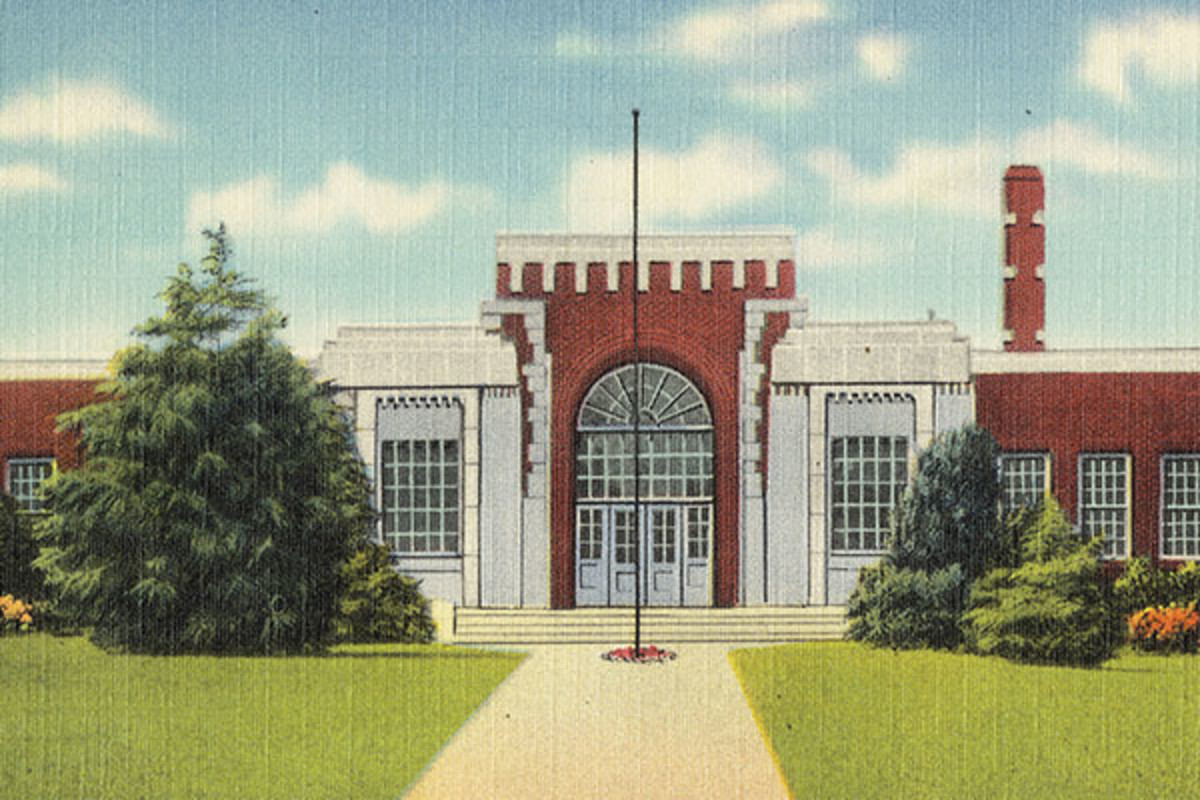 A postcard for Lexington High School in Lexington, Mississippi. (PHOTO: BOSTON PUBLIC LIBRARY/FLICKR)