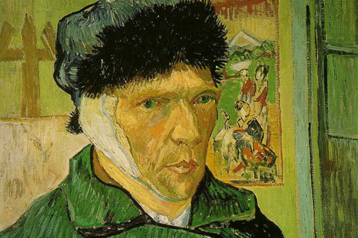Detail from Vincent van Gogh's Self-Portrait With Bandaged Ear. (PHOTO: PUBLIC DOMAIN)