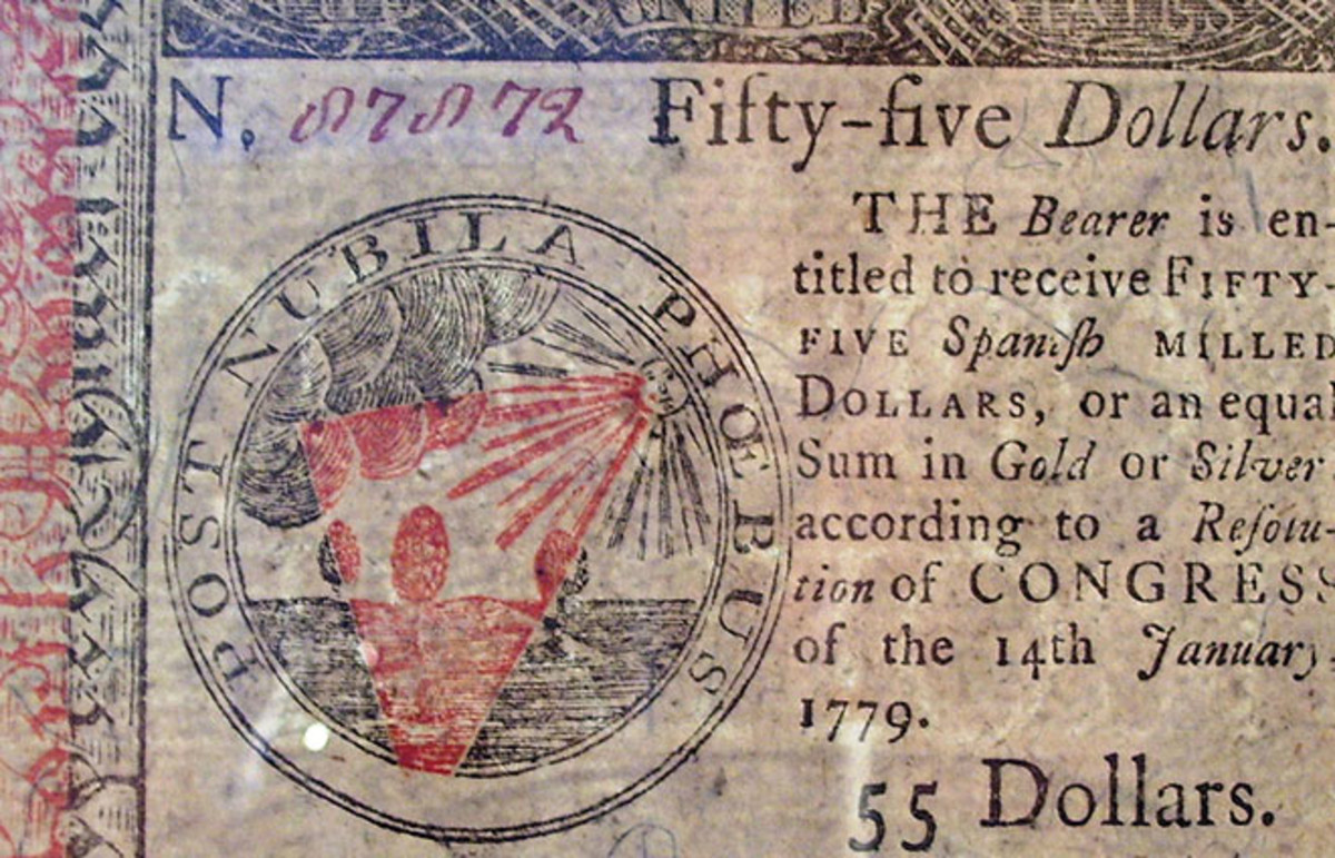 A fifty-five dollar Continental issued in 1779. (Photo: Beyond My Ken/Wikimedia Commons)