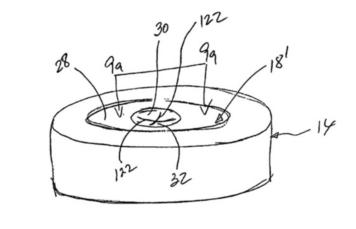 A sketch from the patent for Dr. Abner Levy's resealing restrictor. (Photo: Public Domain)