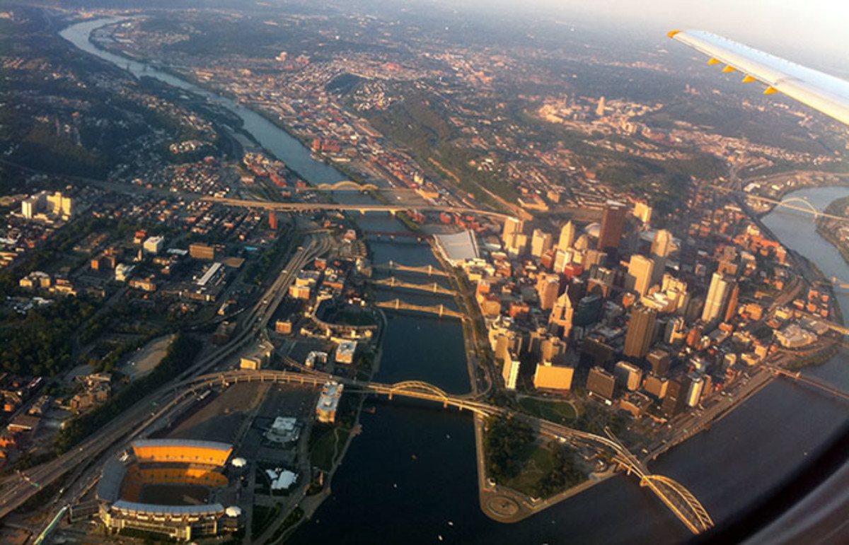 Aeriel photo of Pittsburgh. (Photo: phillq23/Wikimedia Commons)