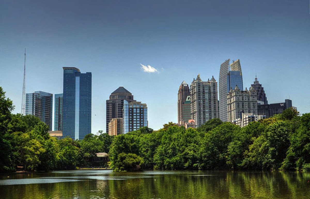 The skyline of Midtown in Atlanta. (Photo: Mike/Wikimedia Commons)