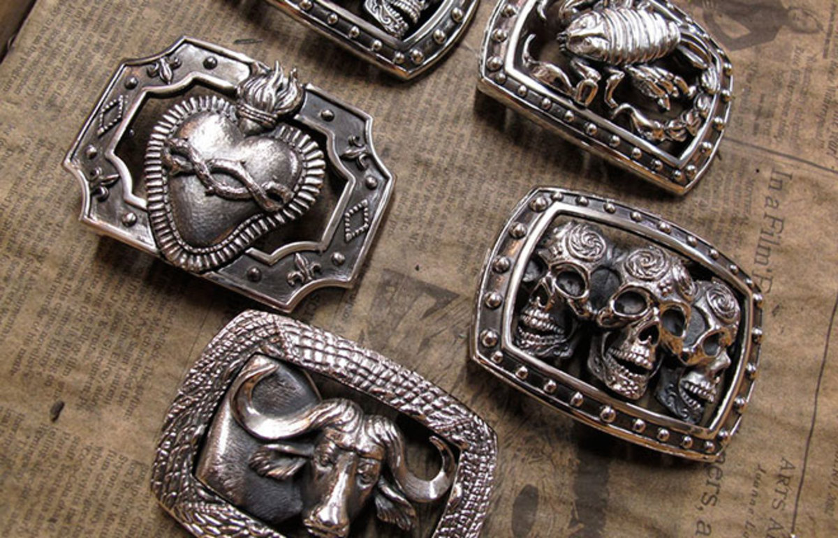 Jeff Deegan Designs belt buckles. (Photo: Jeff Deegan)