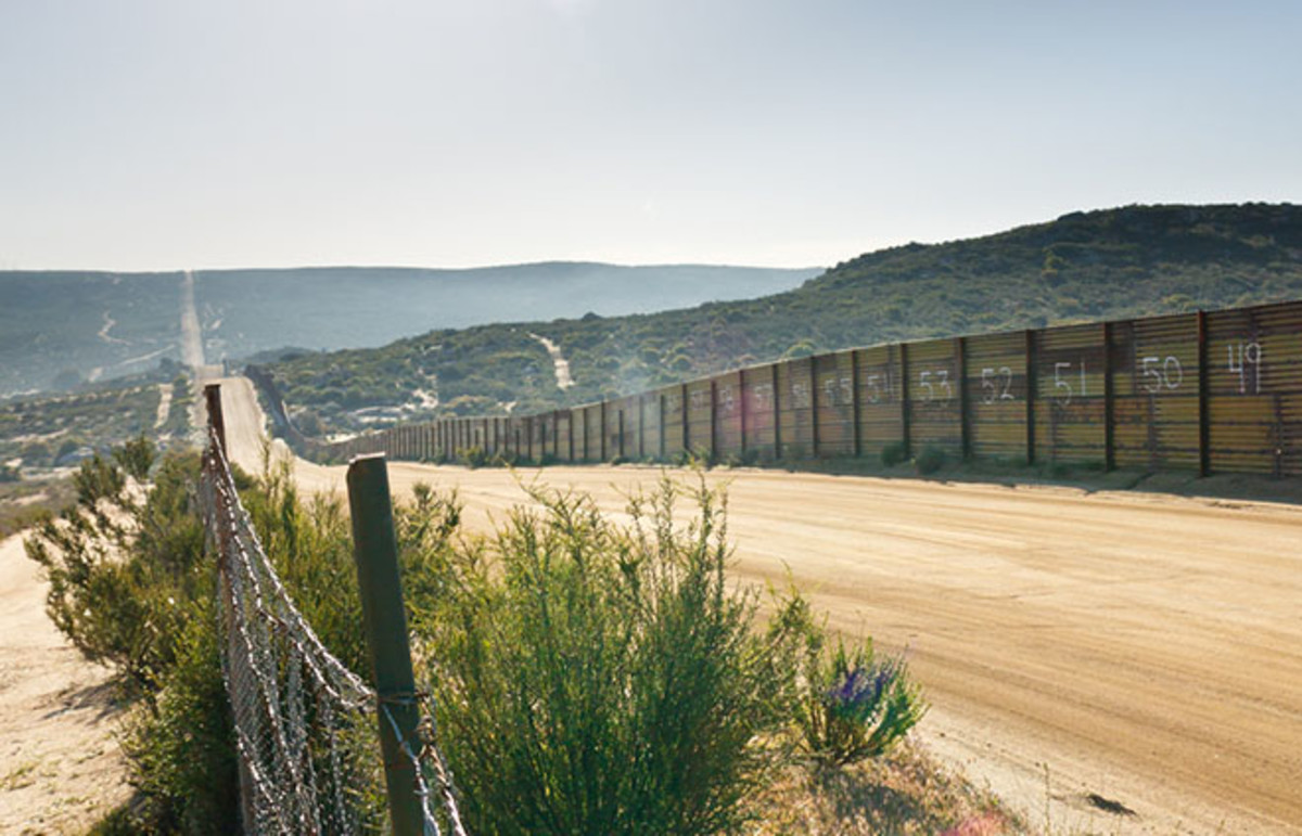 U.S./Mexico border fence near Campo, California. (Photo: Patrick Poendl/Shutterstock)