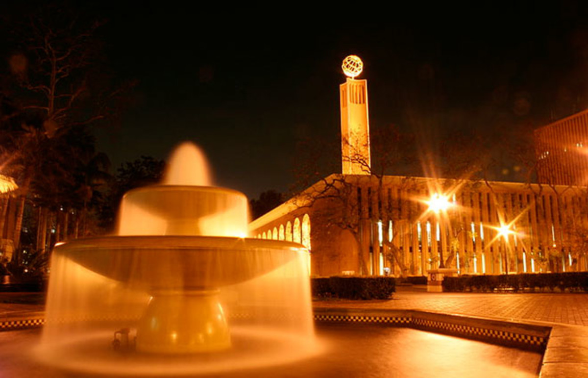 Fountain outside of Doheny Library at the University of Southern California, where Miller is pursuing a Ph.D. in clinical psychology. (Photo: Nick Grasu/Wikimedia Commons)