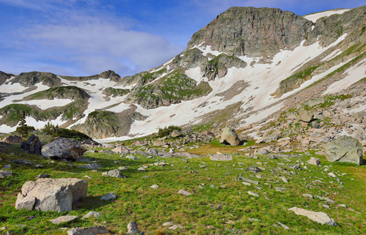Glacier in Rawah Wilderness, Colorado, during summer. (Photo: Alexey Kamenskiy/Shutterstock)