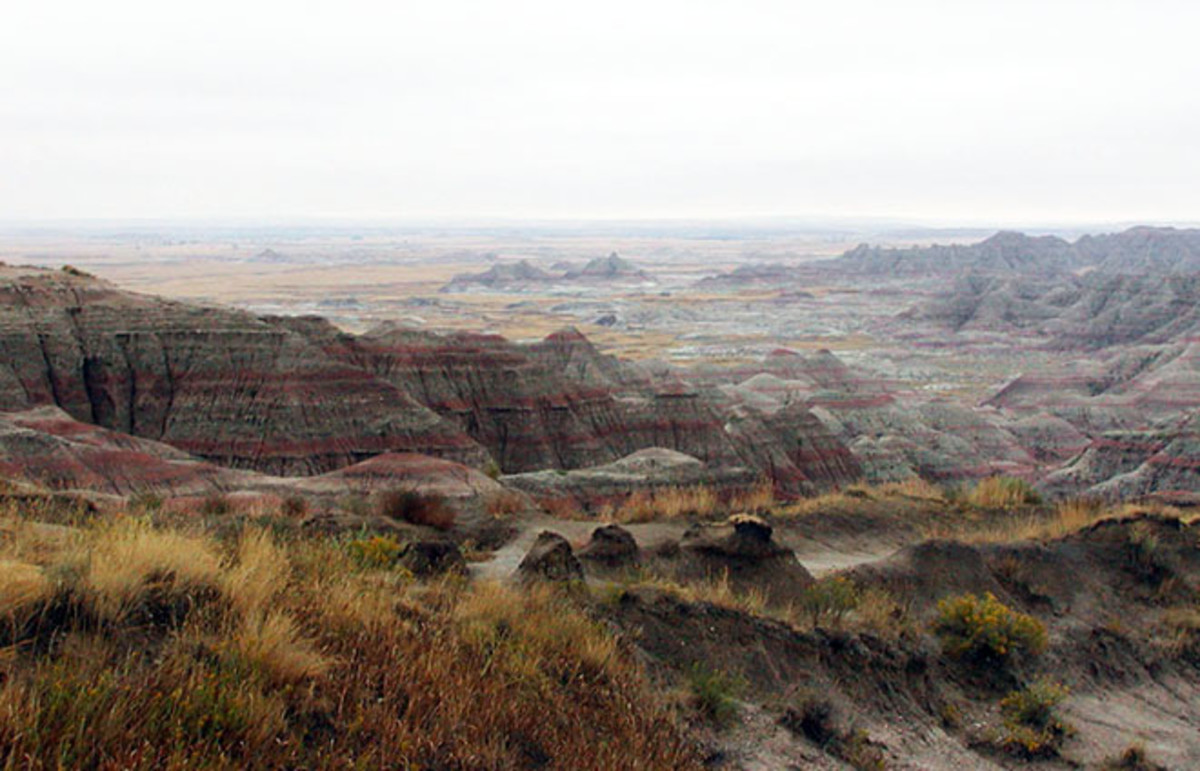 Badlands in the northern portion of Pine Ridge Indian Reservation. (Photo: Public Domain)