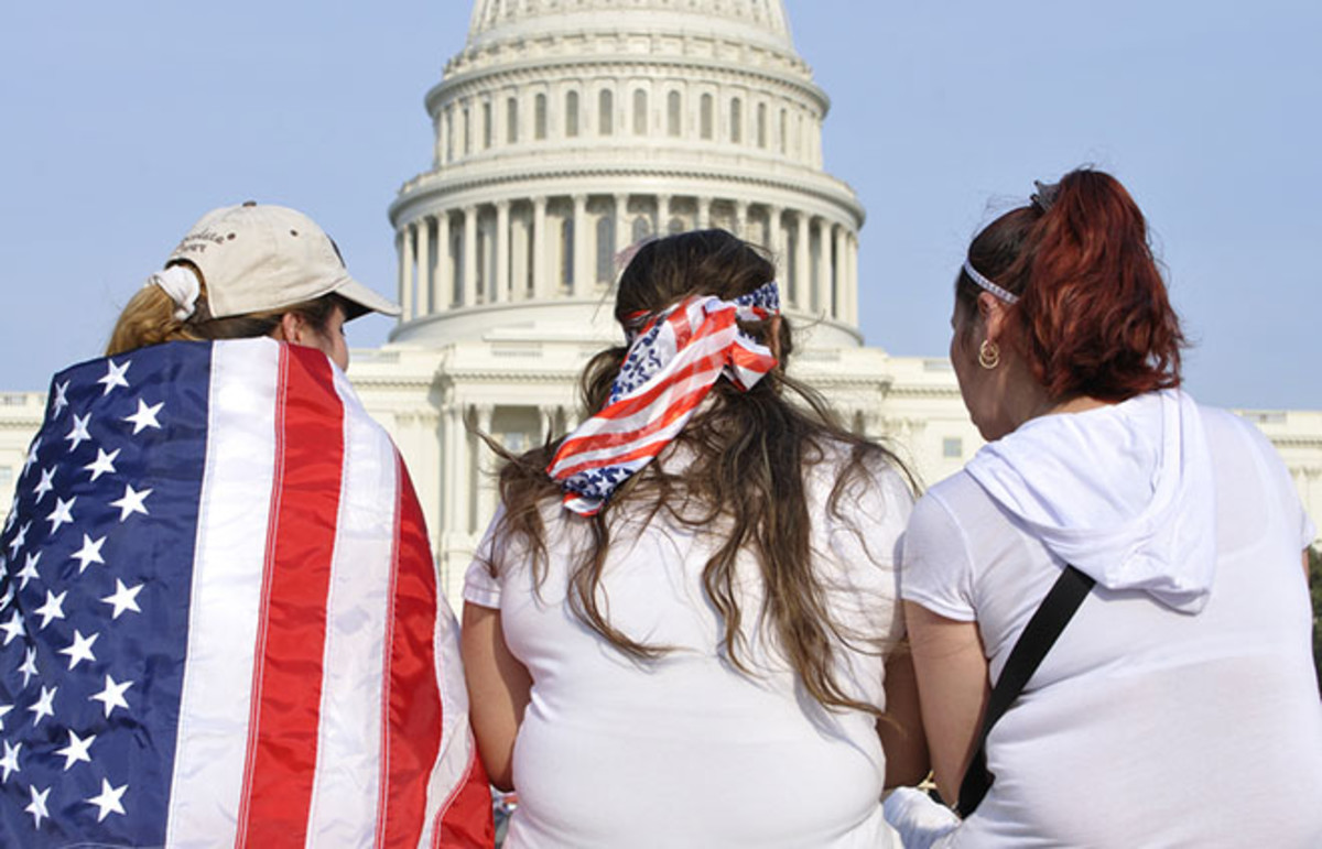 A demonstration for immigration reform in Washington, D.C., on April 10, 2013. (Photo: Chad Zuber/Shutterstock)
