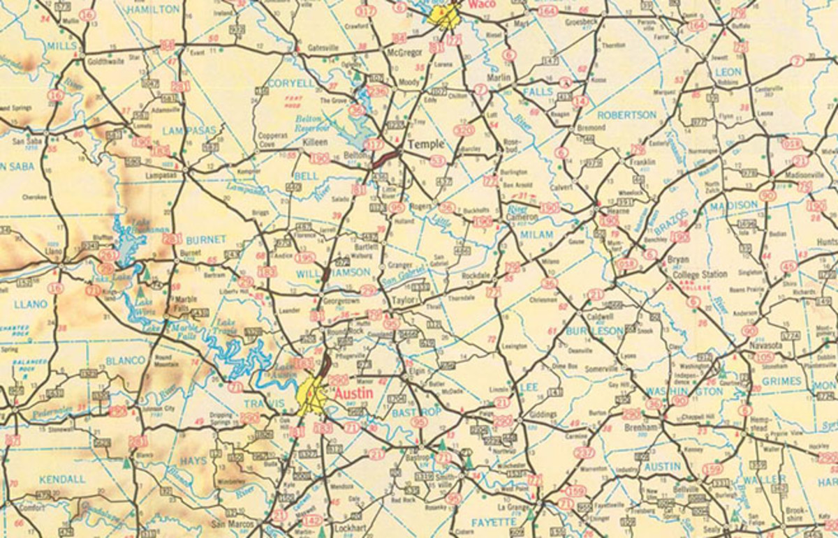 The 1956 edition of the Texas Official Travel Map. (Photo: Public Domain)