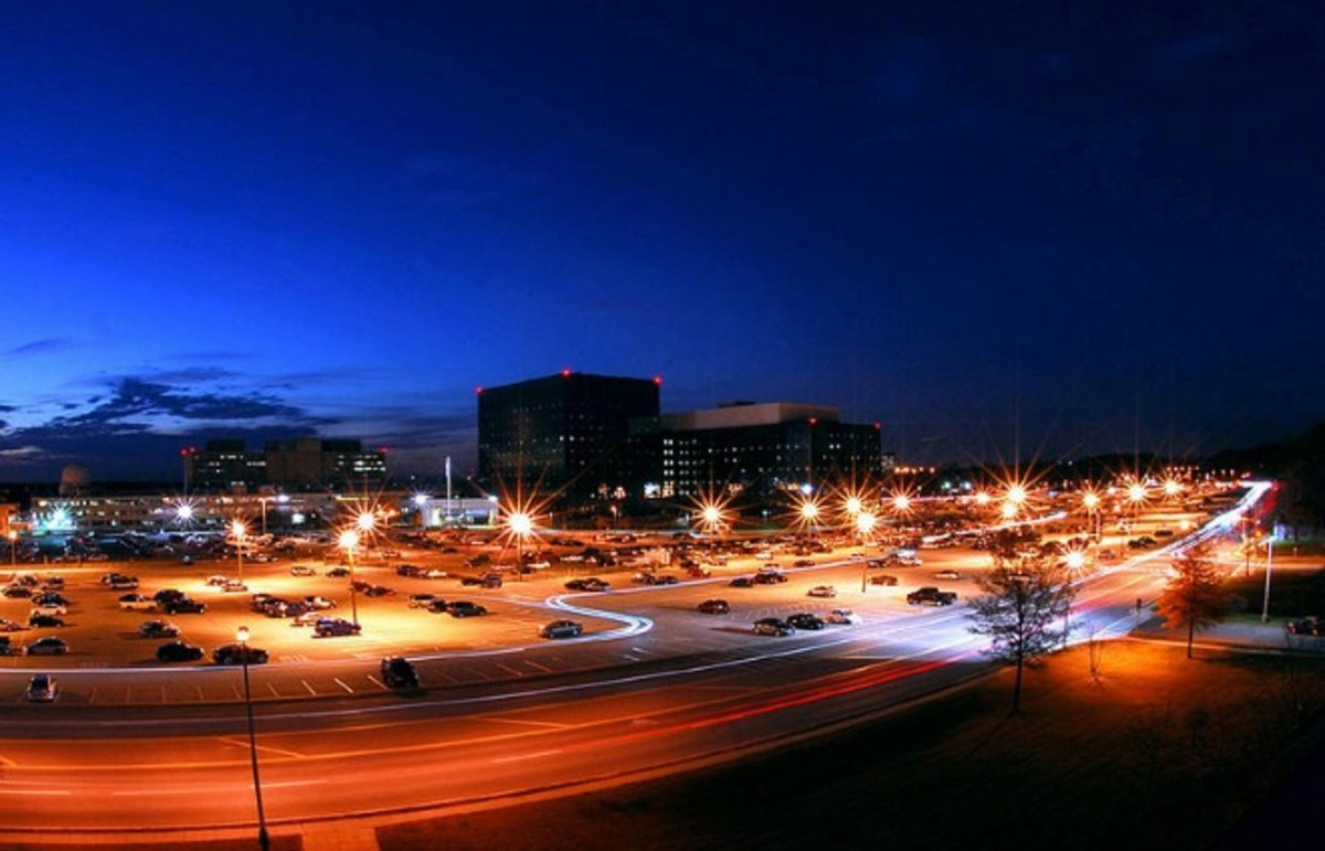 The National Security Agency at night. (Photo: Public Domain)