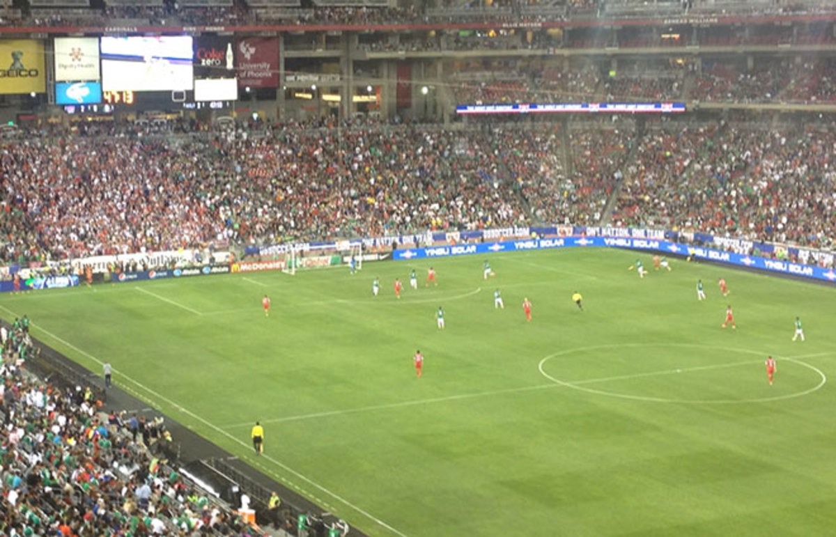 U.S.–Mexico at the University of Phoenix Stadium. (Photo: Noah Davis)