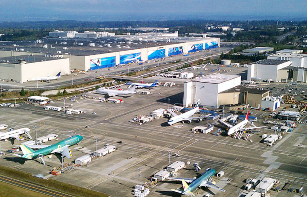 The Boeing factory in Everett, Washington. (Photo: Jeremy Elson/Wikimedia Commons)