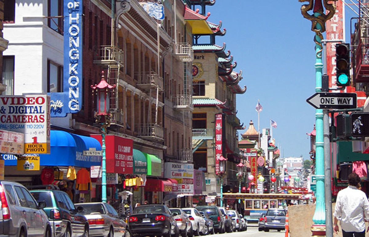San Francisco's Chinatown. (Photo: Daniel Schwen/Wikimedia Commons)