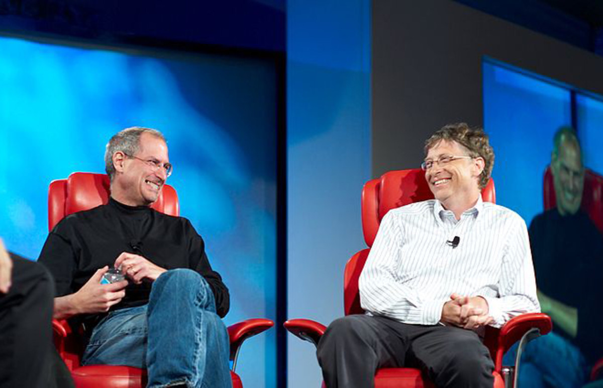 Steve Jobs and Bill Gates at the 2007 All Things D conference. (Photo: Wikimedia Commons)