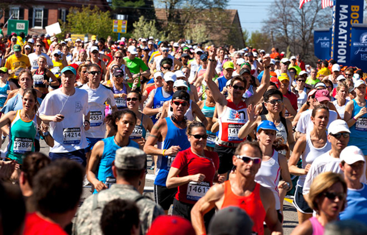 The Boston Marathon in 2012. (Photo: Marcio Jose Bastos Silva/Shutterstock)