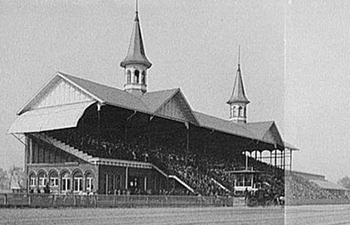 Composite image of Churchill Downs on Derby Day, 1902. (Photo: Public Domain)