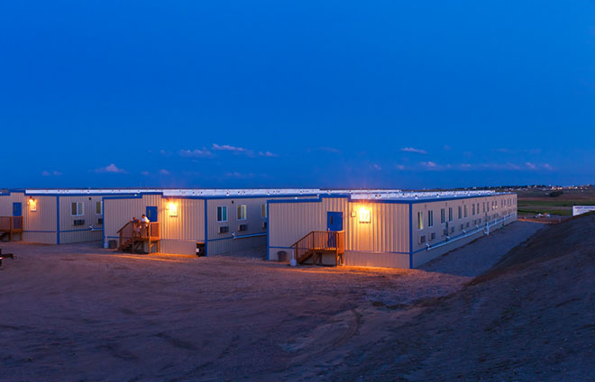 Housing for oil workers in Williston, North Dakota. (Photo: Target Logistics/Wikimedia Commons)