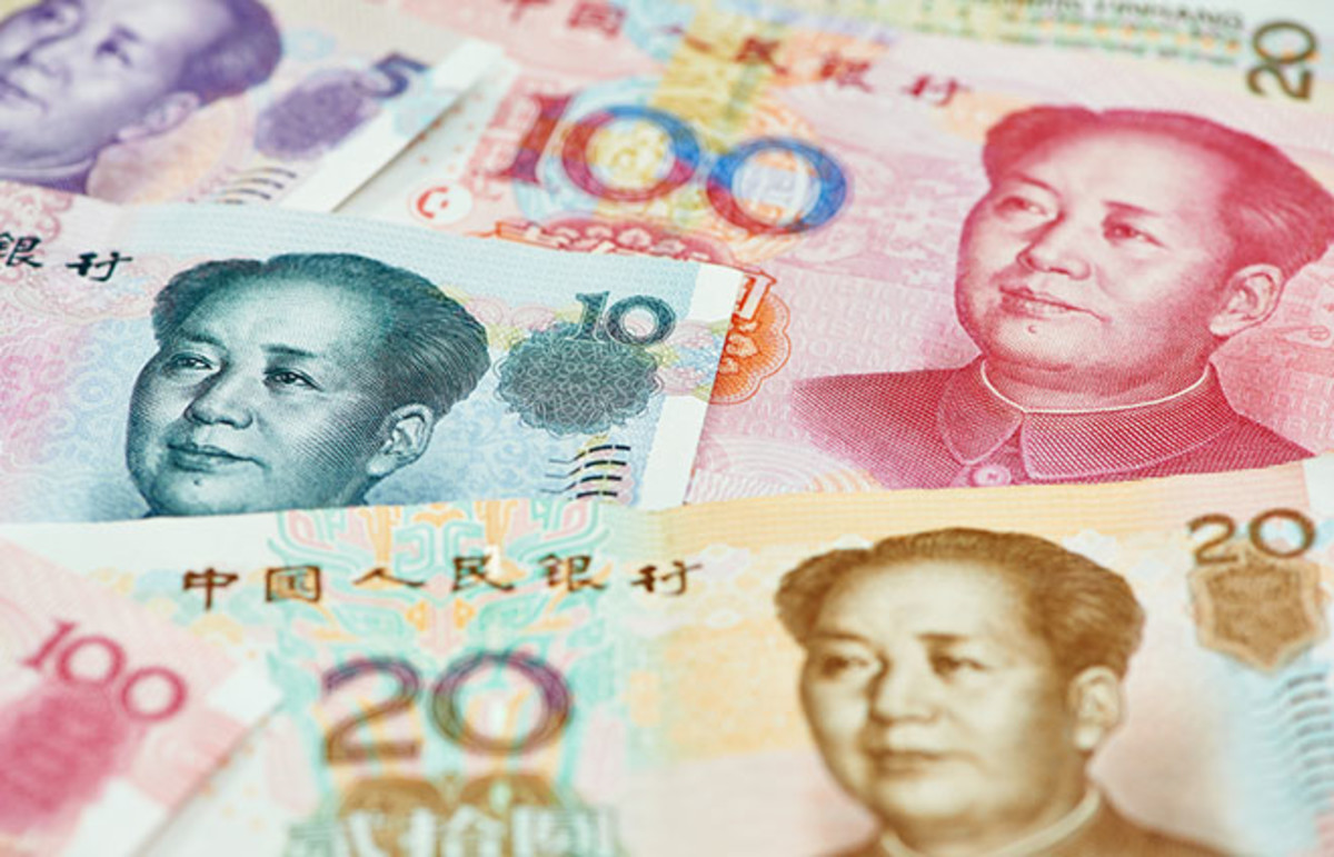 Chinese currency. (Photo: Dmitry Kalinovsky/Shutterstock)