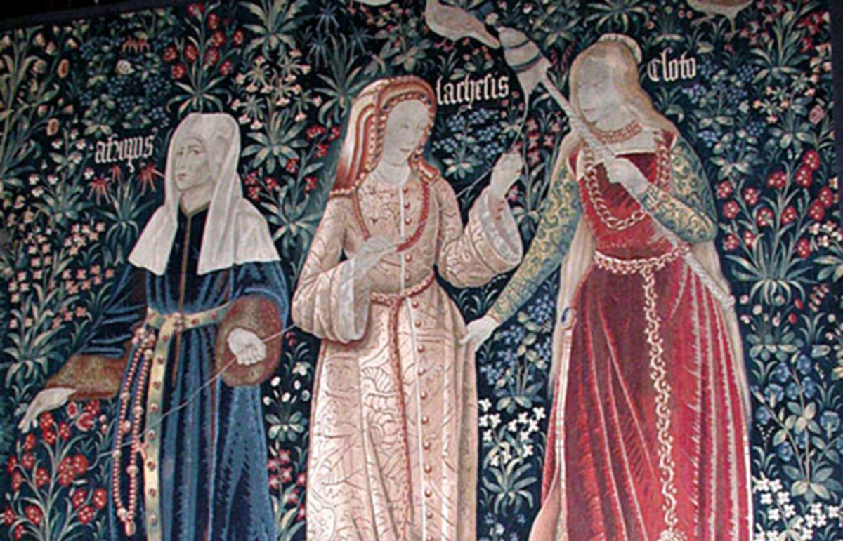 The three fates, Clotho, Lachesis, and Atropos. (Photo: Public Domain)