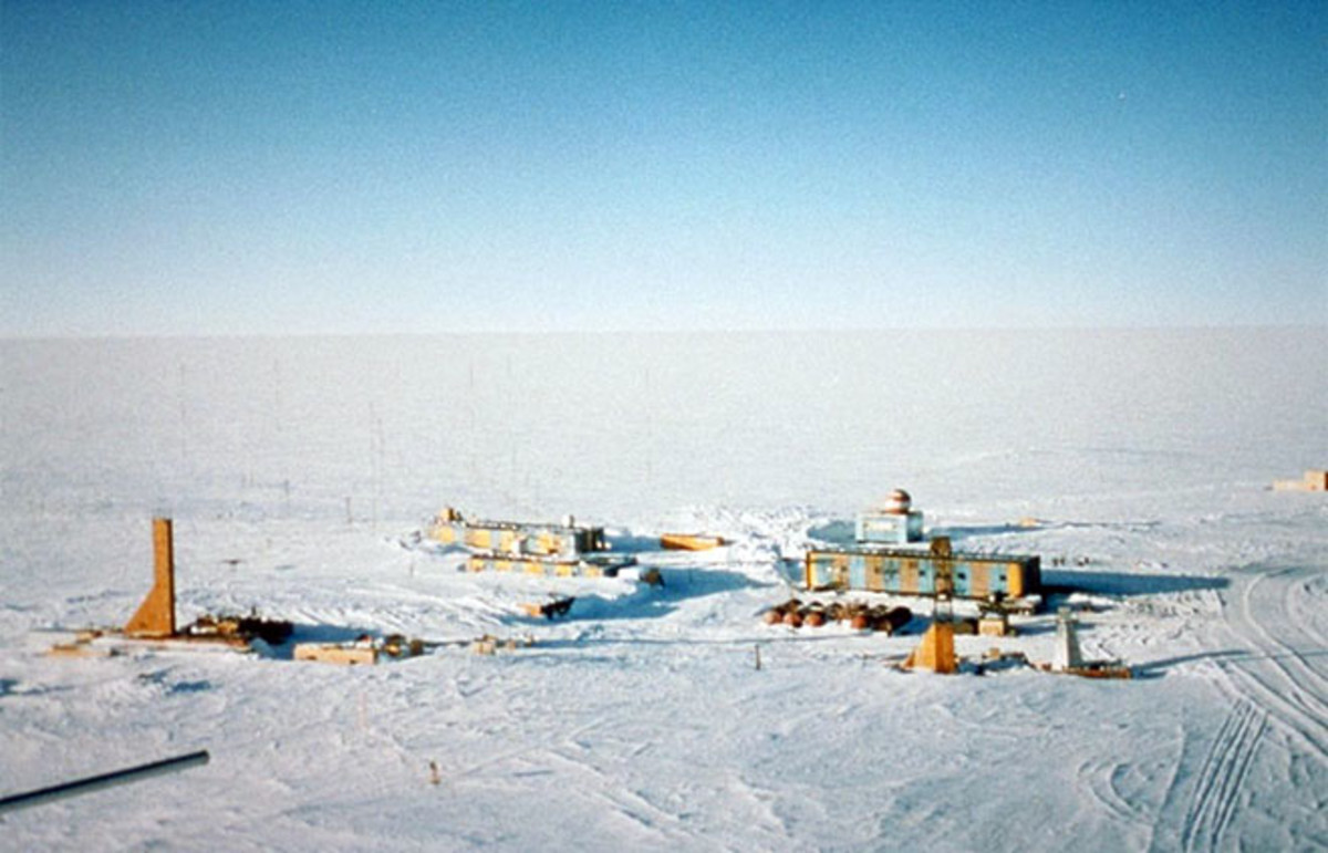 The Vostok Station sits near the southern Pole of Cold, with the lowest reliably measured natural temperature on Earth. (Photo: Public Domain)
