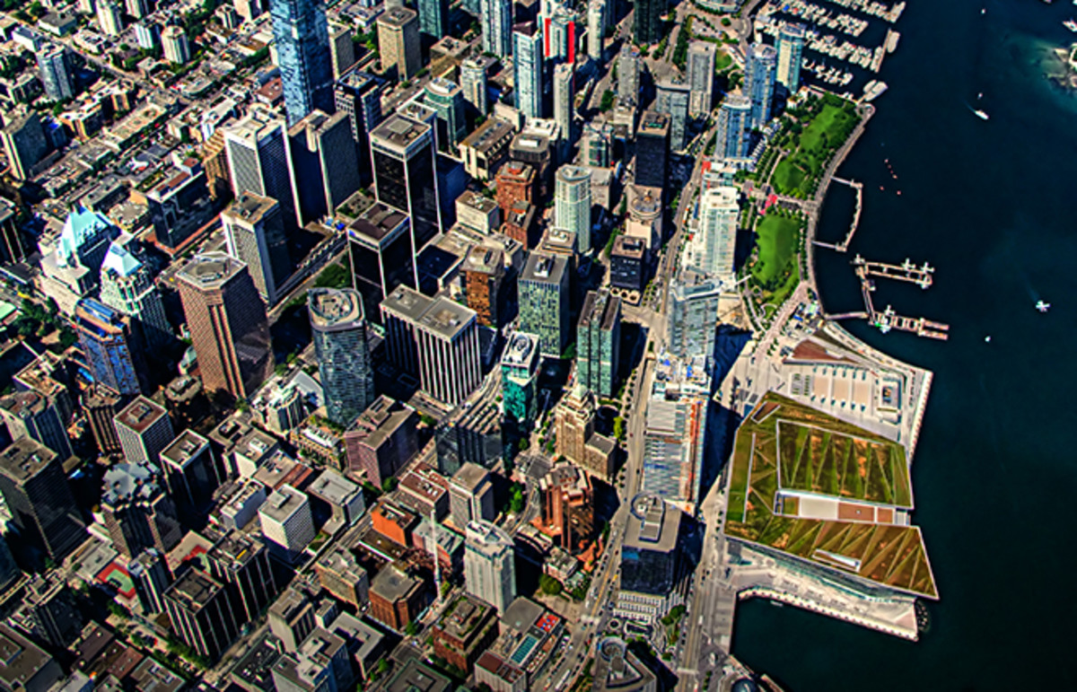 Aerial view of downtown Vancouver, Canada. (Photo: High Diver/Wikimedia Commons)