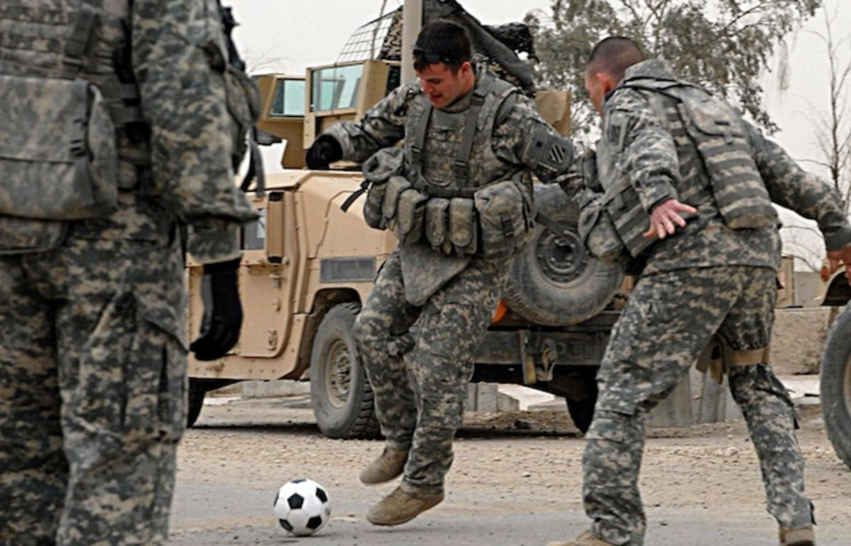 Image result for Soccer for Military