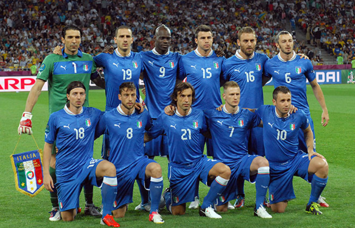Italy at the 2012 European Championships. (Photo: photoplanet.am/Shutterstock)