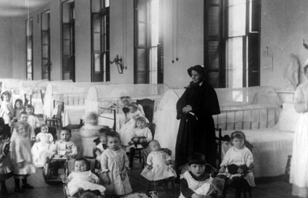 Sister Irene of New York Foundling Hospital with children. Sister Irene is among the pioneers of modern adoption, establishing a system to board out children rather than institutionalize them. (Photo: Jacob Riis/Public Domain)