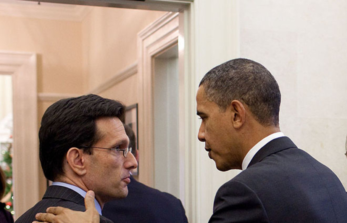 Cantor and others meeting with President Obama in November 2010. (Photo: Public Domain)