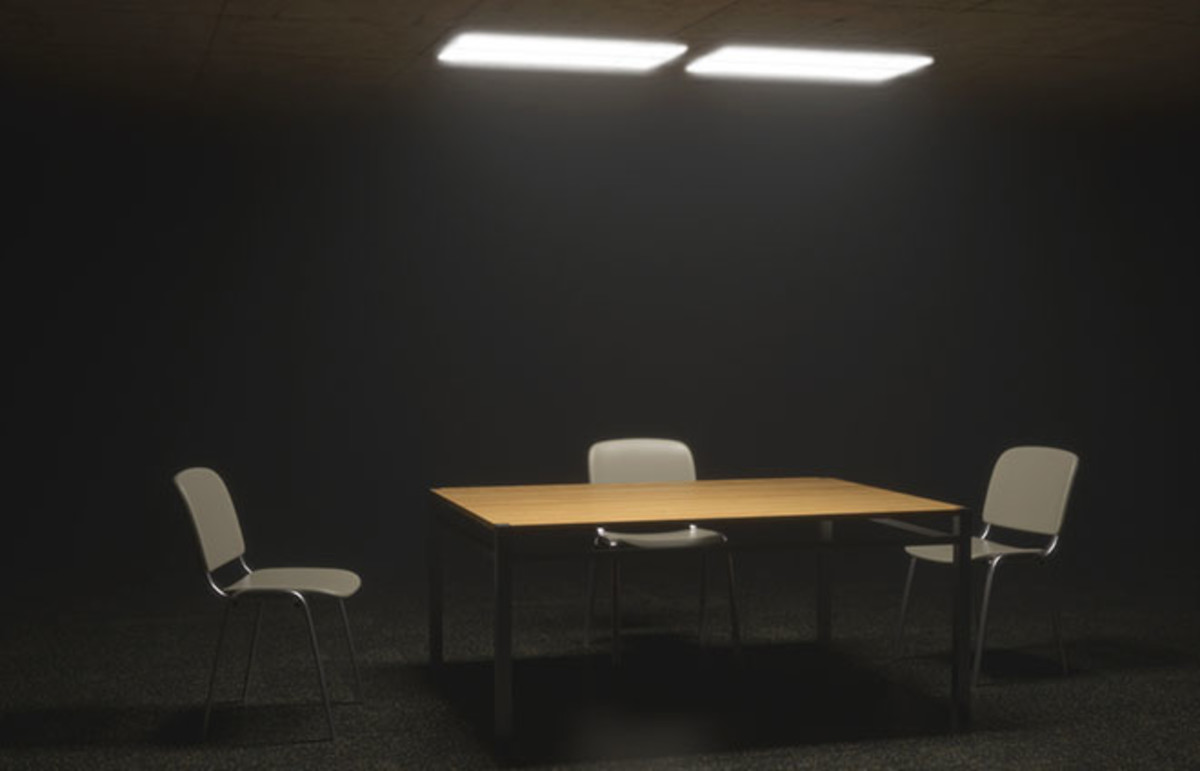 Interrogation room. (Photo: TheRenderFish/Shutterstock)