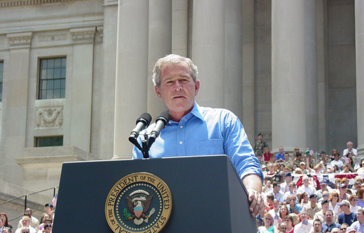 George W. Bush in Charleston, West VIrginia. (Photo: Amanda Haddox/Shutterstock)