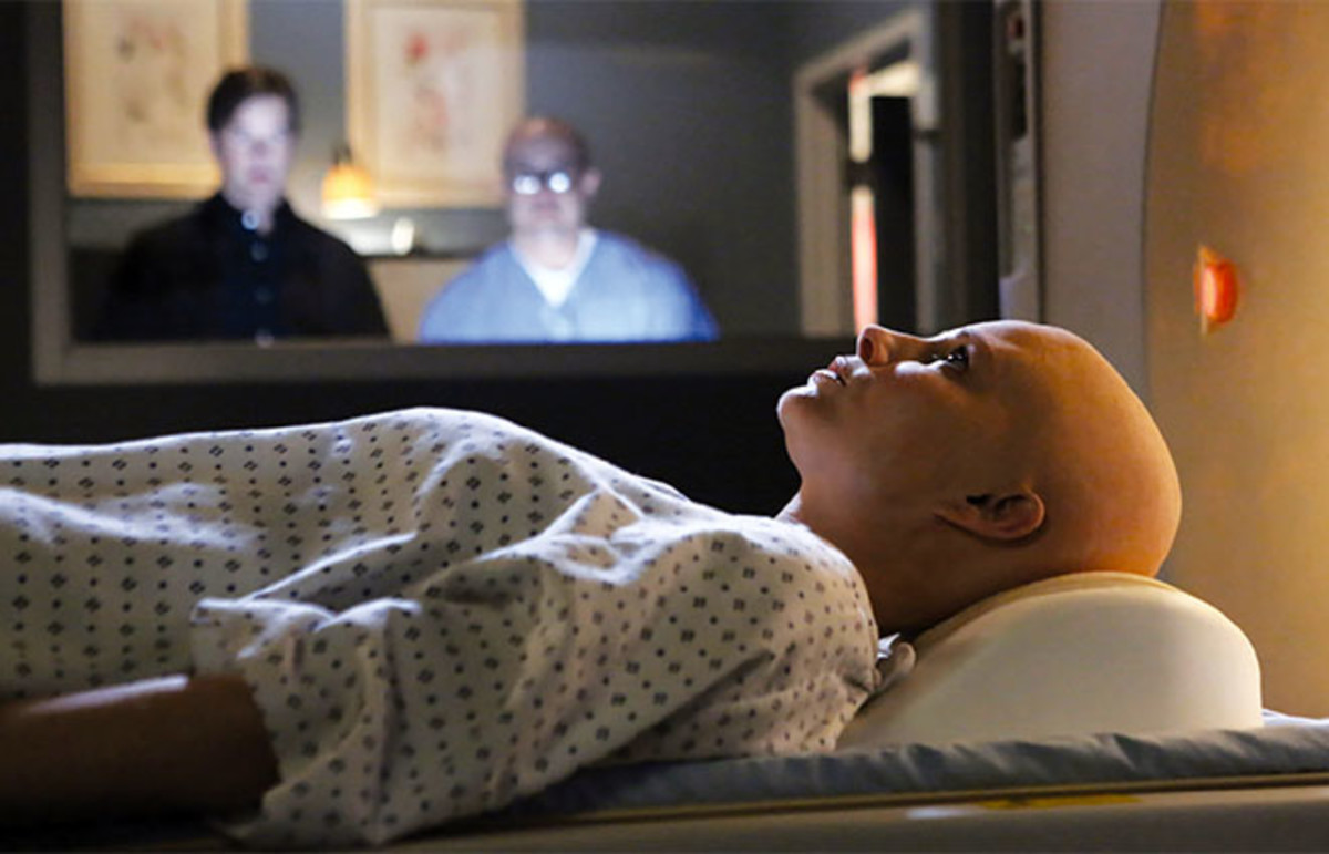 A patient undergoes a scan in the NBC series Parenthood. Researchers have found that people are more likely to have their behaviors shaped by a message embedded in a story than by a message delivered in the form of straight information. (Photo: NBC)