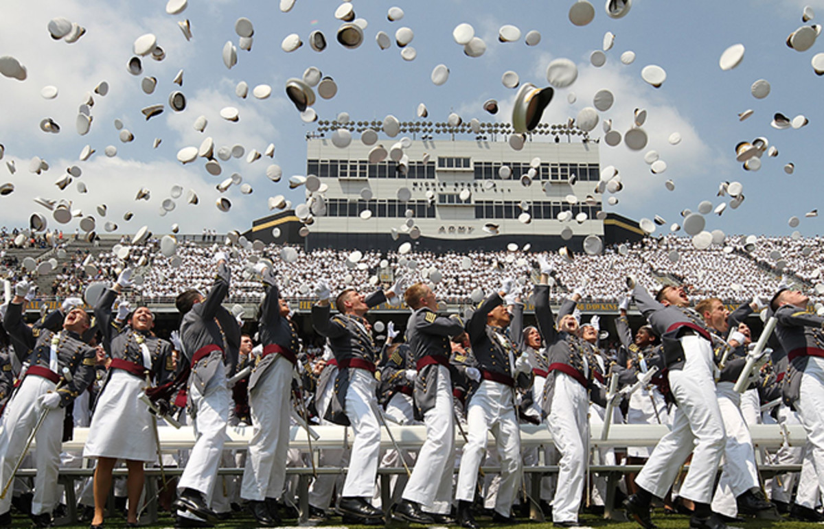 Class of 2012 cadets from the United States Military Academy at West Point toss their hats. (Photo: The U.S. Army/Flickr)