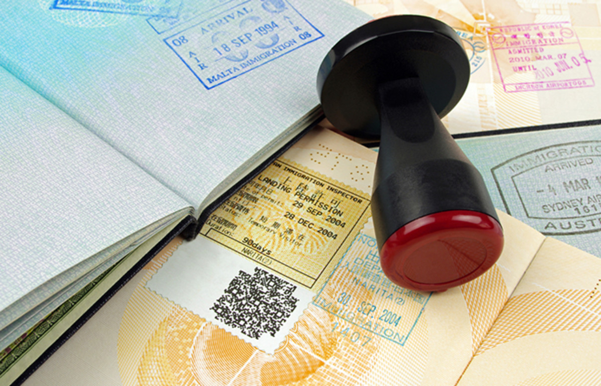 Immigration stamp. (Photo: LuapVision/Shutterstock)
