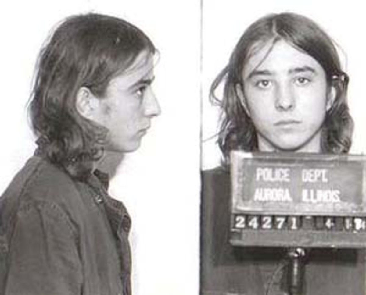 Mug shot of Brian Dugan from 1970.