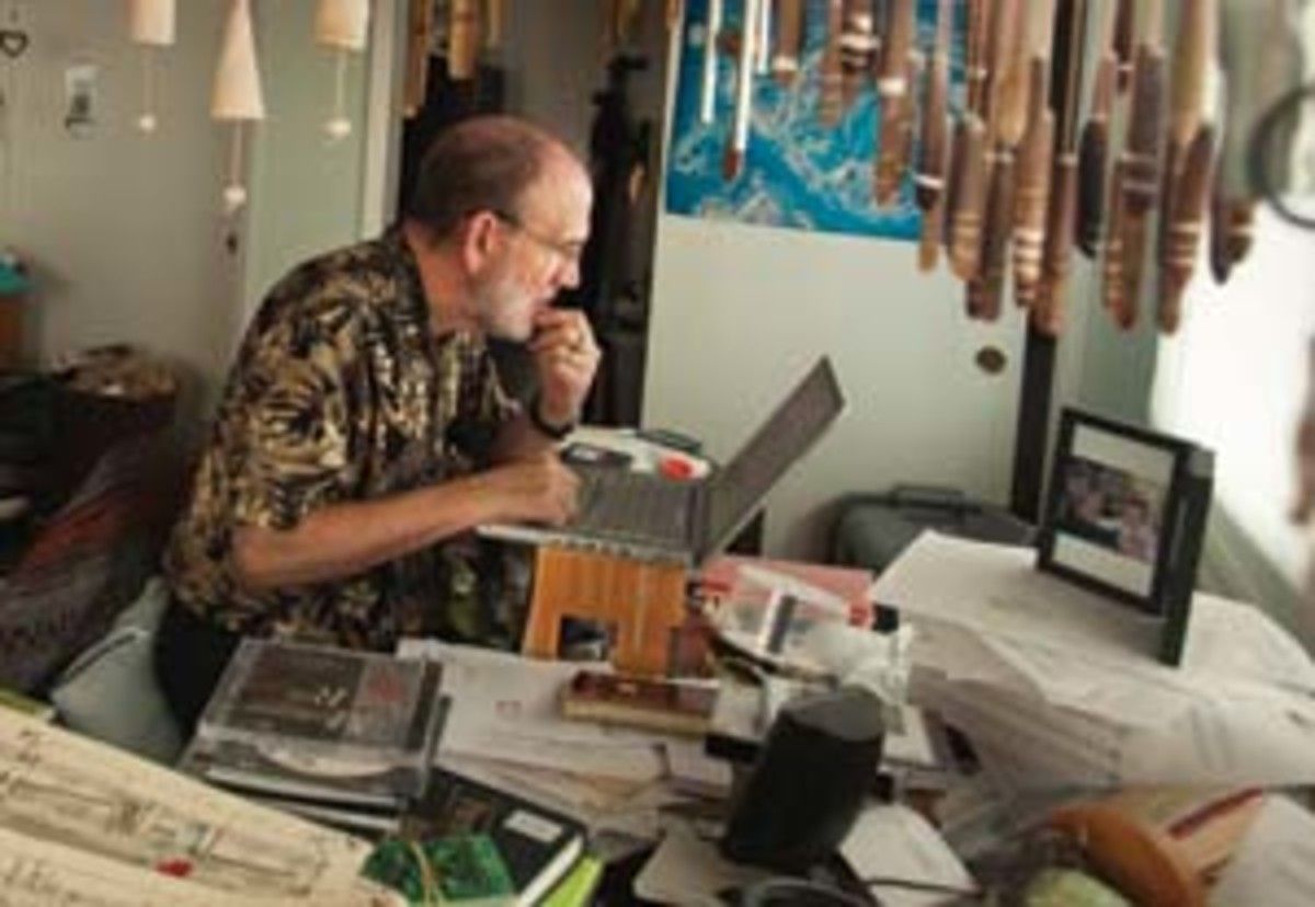 David Cope in his home office. Click the photo to view of his unique workspace. (Catherine Karnow)