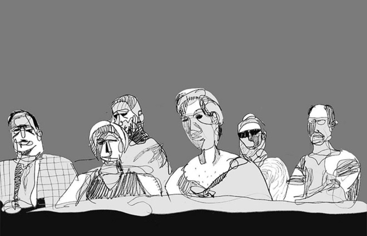 A sketch of a jury in Marietta, Georgia. (Photo: Matt Freedman/Flickr)