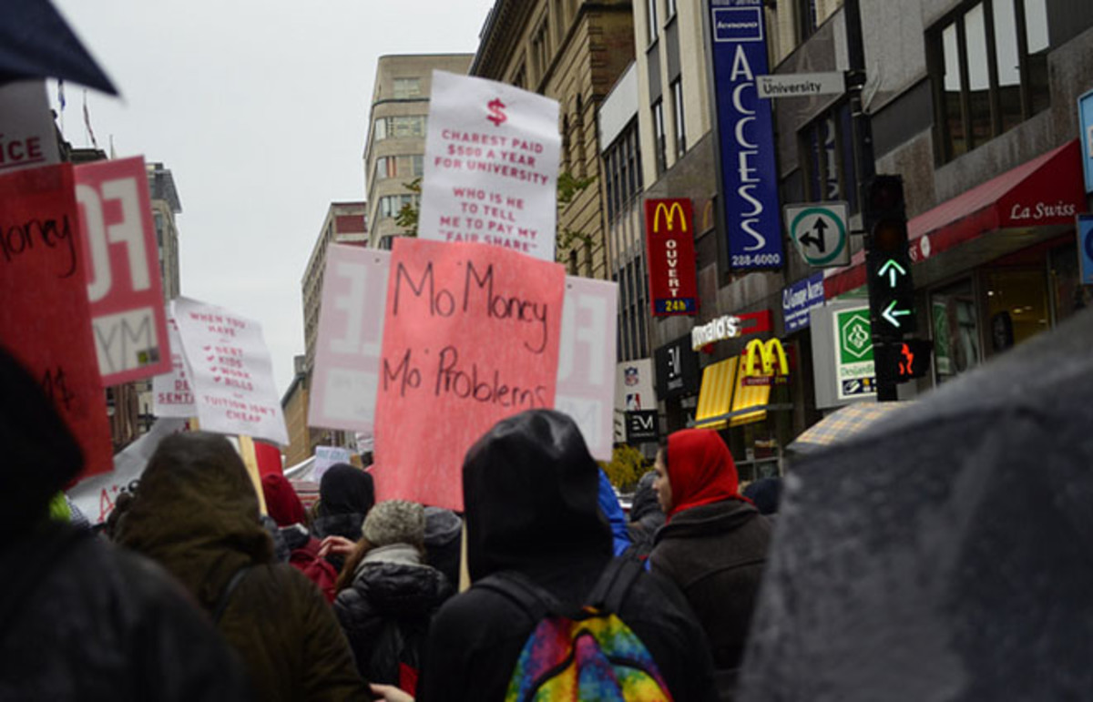 Students protest tuition hikes. (Photo: Kunal Shah/Flickr)