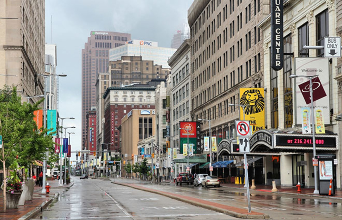View along Euclid Avenue in Cleveland, Ohio. (Photo: Tupungato/Shutterstock)