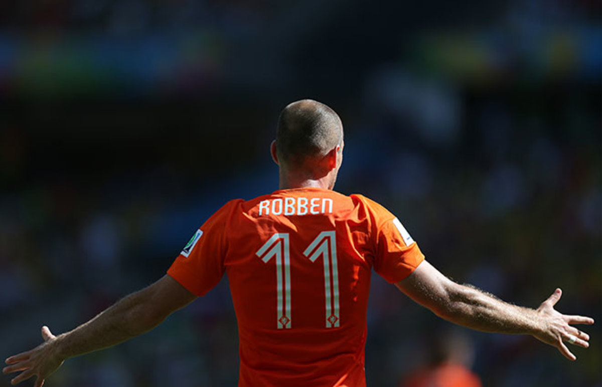 Arjen Robben at the 2014 World Cup. (Photo: AGIF/Shutterstock)
