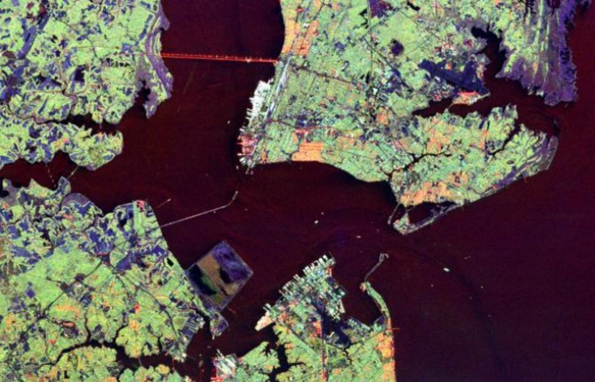 Hampton Roads from space. (Photo: Public Domain)