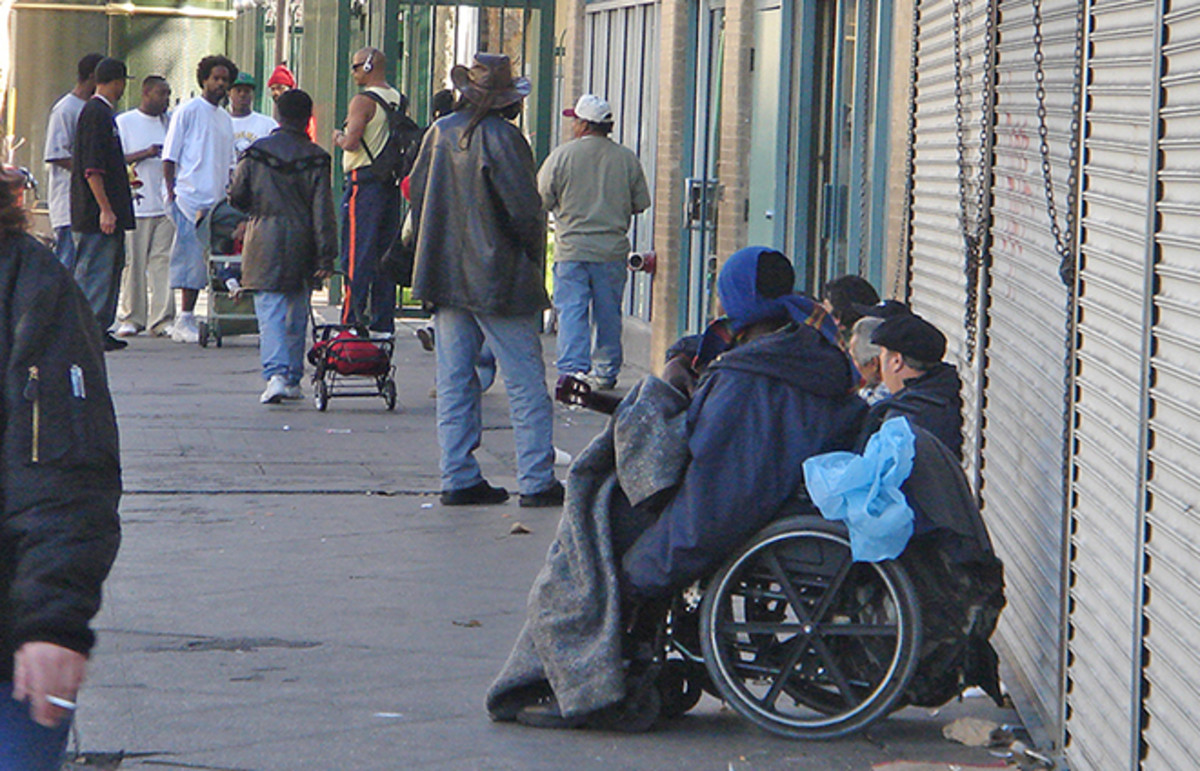 Los Angeles' Skid Row. (Photo: IK's World Trip/Flickr)