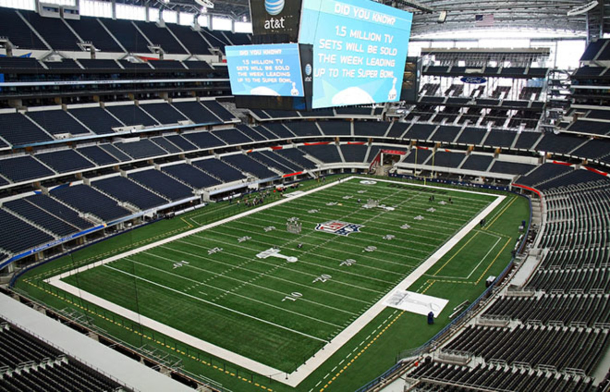 Cowboys Stadium, home of Super Bowl XLV in 2011, the year Texas' attorney general called the annual event the single largest human trafficking incident in the U.S. (Photo: Ken Durden/Shutterstock)