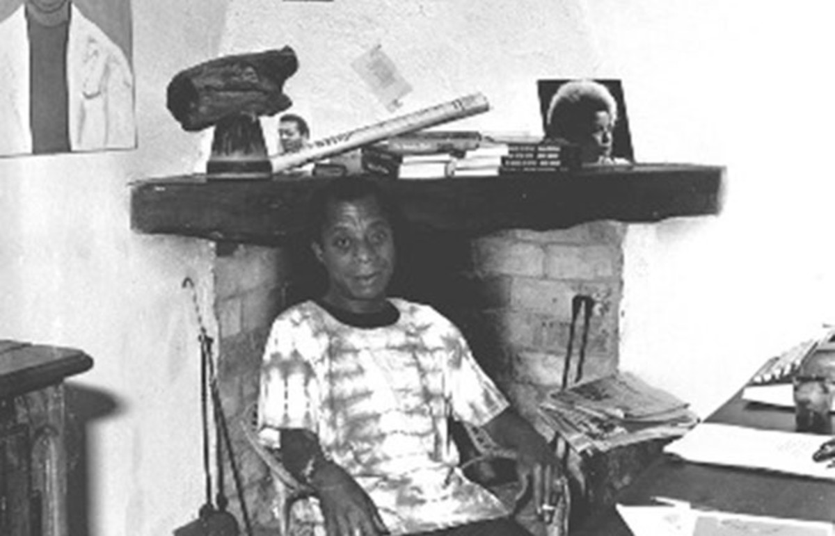 James Baldwin in his house in Saint-Paul de Vence. (Photo: OT Saint Paul de Vence/Wikimedia Commons)