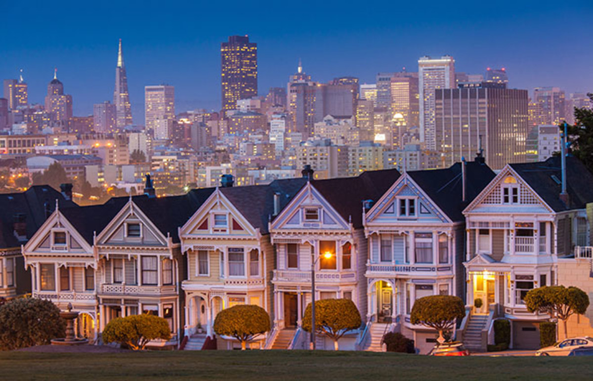 Alamo Square, San Francisco, California. (Photo: Nithon/Shutterstock)